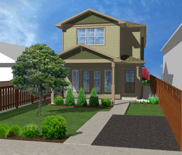 Plan house plans by for Narrow lot duplex