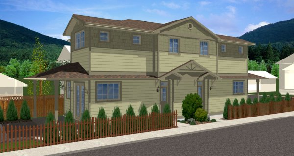 Plan house plans by for Modular homes for narrow lots