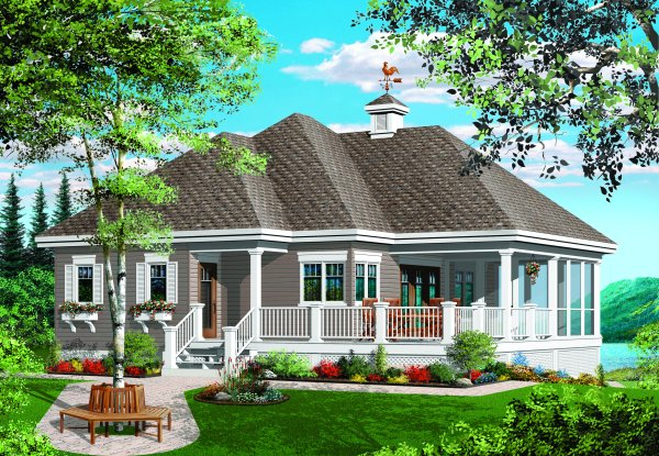 House Plans with Screened Porches Page 1 at Westhome Planners