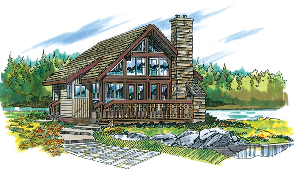 House plans with lofts page 1 at westhome planners for 32x32 cabin plans