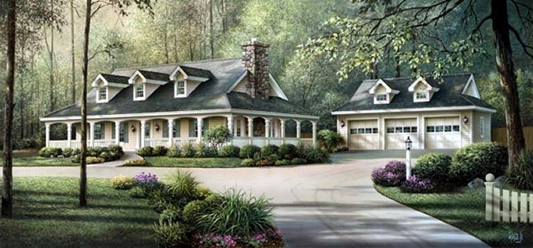 Story House Plans Between And Sq Ft With A Car - 1 story bungalow house plans 3 car garage