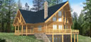 thumbnail_log_walls Carriage House Plans Sq Ft on single floor, one level 4-bedroom, ranch style, brick home big bedrooms, open floor, ranch hip, farmhouse 1-story,