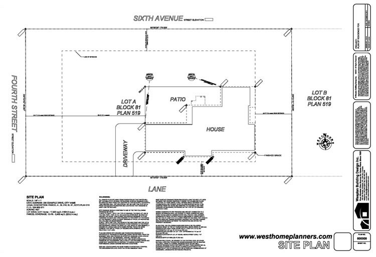 House Site Plan Numberedtype